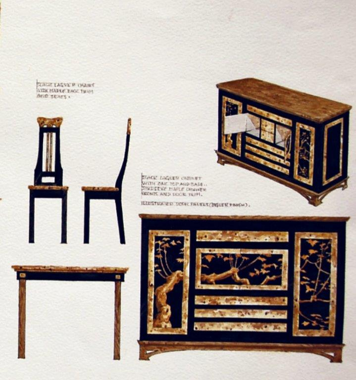 Hand painted Chinese furniture collection